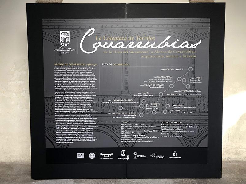 Cartel Colegiata de Torrijos de Alonso Covarrubias
